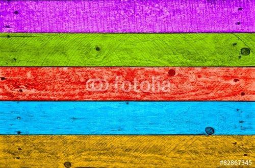 Bunte Holzbretter, Holz, Holzzaun, farbige Bretter, Hintergrund - Fotolia