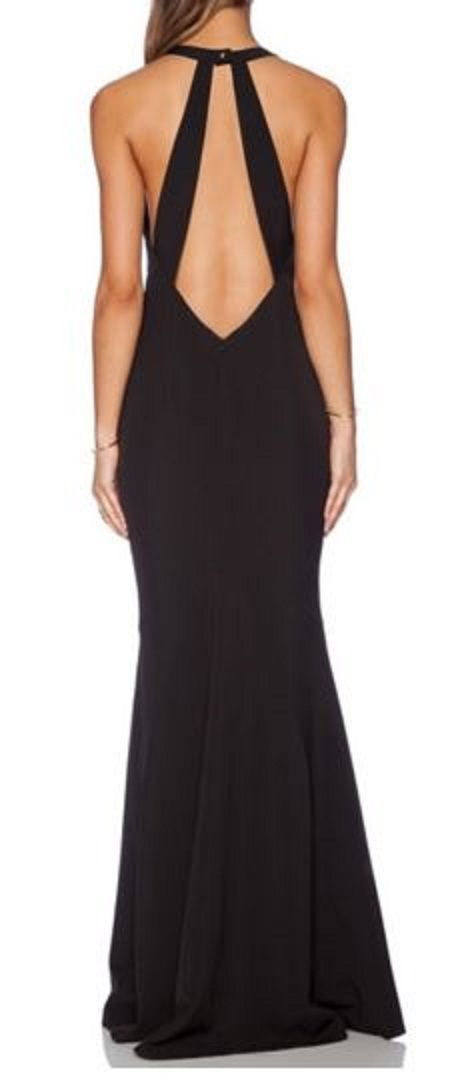 Holiday Party Dress Fashion Ideas! Backless Solid Color Sleeveless Slimming Maxi Dress #Sexy #Backless #Black #Party #Dress #Holiday #Fashion #Ideas