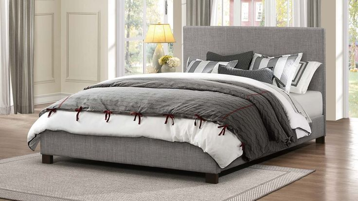 Homelegance Chasin Upholstered Platform Bed - Grey - 1896N-1 At home in a number of room settings, the Homelegance Chasin Collection is styled to fit your needs