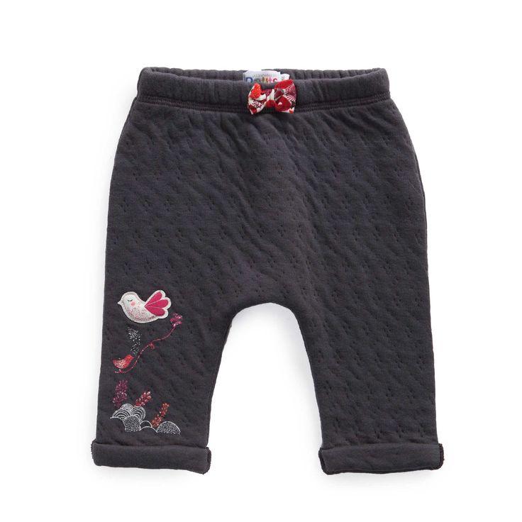 "Pantalon en double jersey fantaisie  ""La tribu des petits chats"""