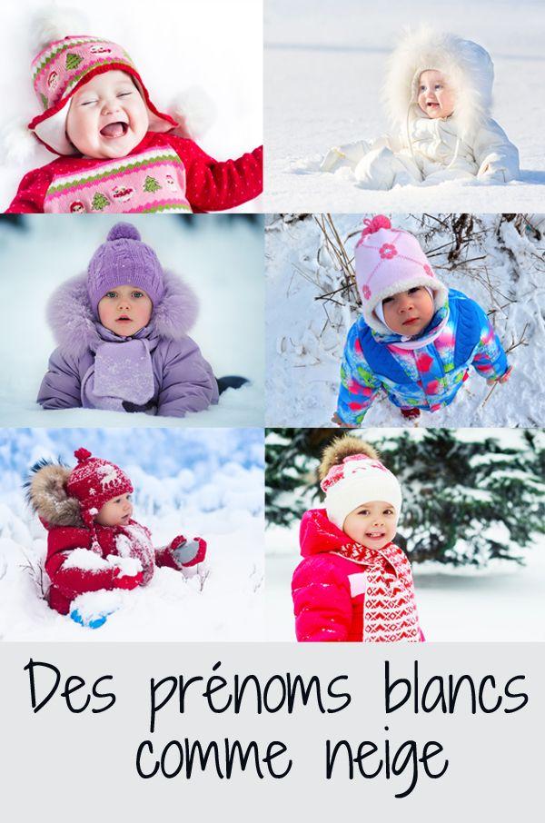Prêts à fondre ? Des prénoms qui ont tous le blanc ou la neige comme étymologie #prénom #prenomfille #prenomgarçon #prenombebe