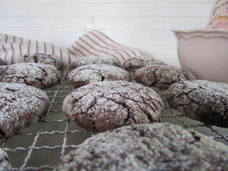 biscotti al cioccolato screpolati-chocolate crinkles