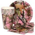 Pink camo party supplies