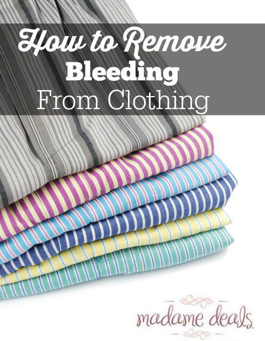 Blog post at Real Advice Gal : How to remove bleeding from clothes     We have all had it happen, the red sock that somehow make it in the wash with our white und[..]