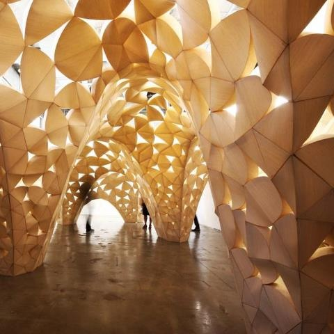 Voussoir Cloud / IwamotoScott Architecture + Buro Happold: Clouds, Buro Happold, Architecture Galleries, Southern California, Voussoir Cloud, The Angel, Architecture Bois, Iwamotoscott Architecture, Art Installations