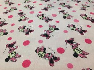 Tessuto cotone minnie rosa