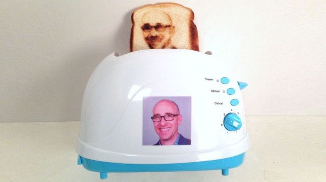 The Vermont Novelty Toaster Corporation uses your #selfie to create personalized pieces of toast.