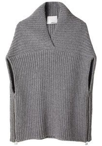shawl sweater vest WITH side zips!