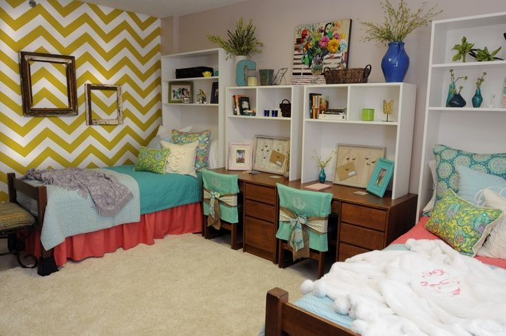 Decorating Ideas > Use Removable Wallpaper To Add Some Style To Bare Dorm  ~ 044206_Dorm Room Headboard Ideas