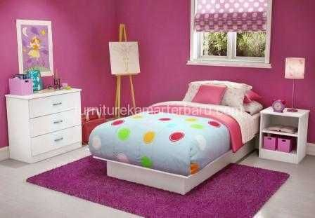 set furniture kamar anak gadis remaja dengan harga jual yang sederhana serta pengerjaan secara rapi dan mempunyai kualitas ekspor dengan harga yang bersahabat