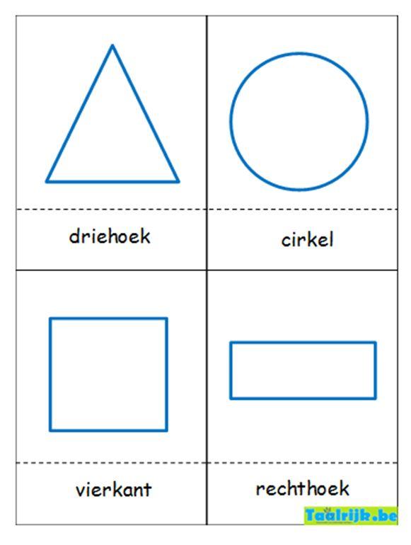 Flitskaarten thema vormen: vormen oefenen met anderstalige nieuwkomers en leerlingen adhv. leuke spelletjes.