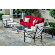 Check out the latest in premium outdoor patio design.  This patio furniture set uses all sunbrella fabric - Free Shipping $2799.00 - Shop - https://www.allbackyardfun.com/gables-outdoor-deep-seating-sofa-lounge-chairs-1316/