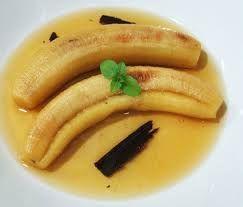 bananos en miel y canela