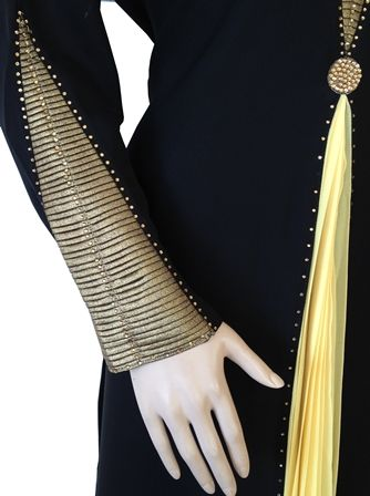Abaya stone work designs look gorgeous to wear. Abaya design with stones come with different colors. Enjoy the collection.