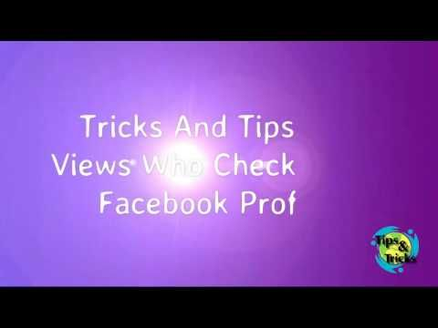 Tricks And Tips For Views Who Checked Your Facebook Profile - YouTube