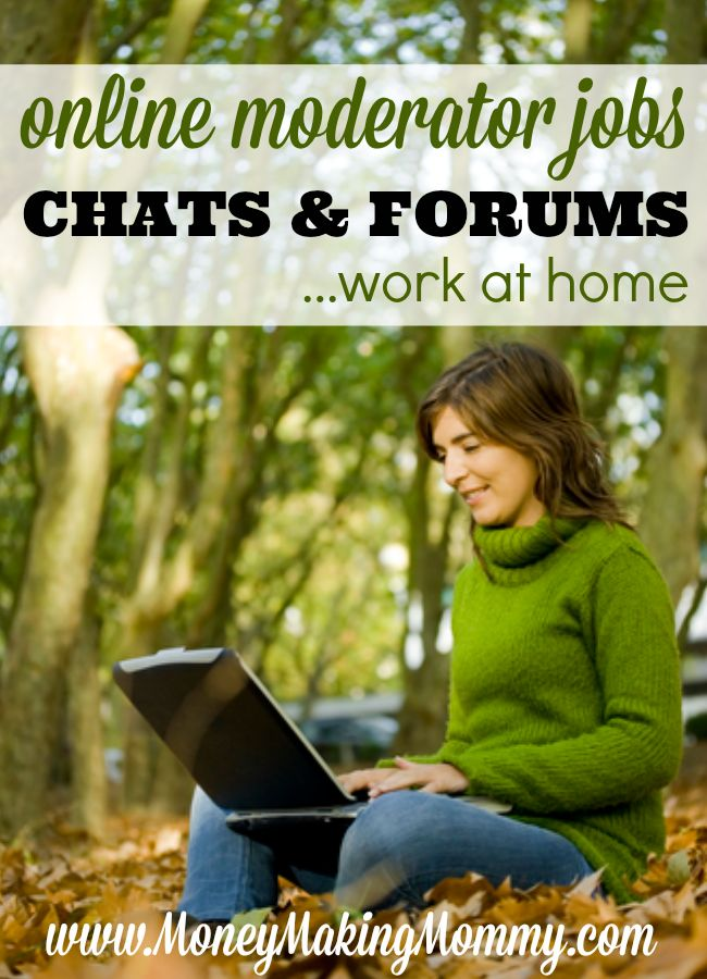 Looking for a non-phone, online work at home job? Thought about being a forum or chat moderator? These jobs exist. Check out this list of companies that hire for these types of positions at MoneyMakingMommy.com.