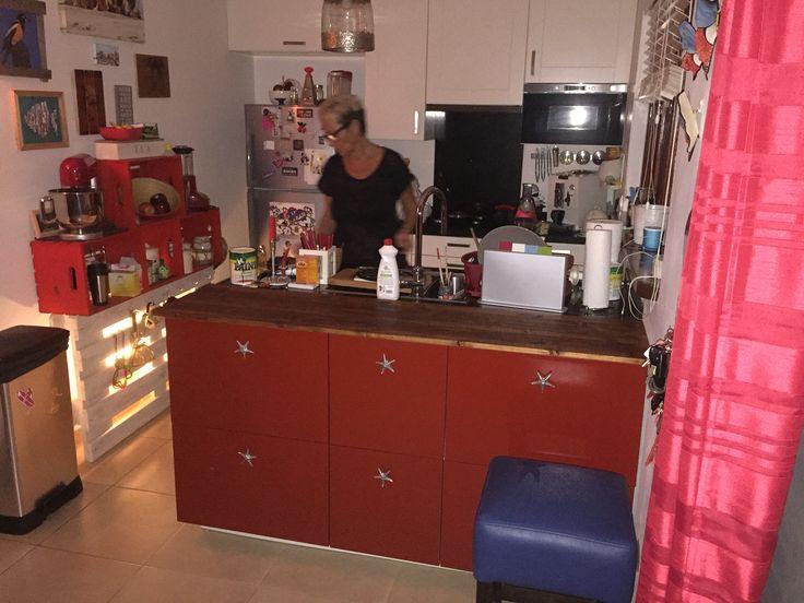 Keuken aangepast