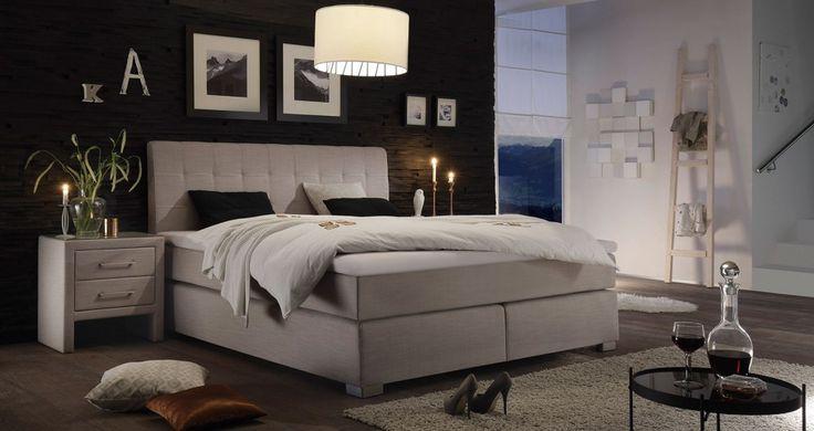 Piękne łóżko kontynentalne Boxspring. http://www.aaaameble.pl/ #lozka…