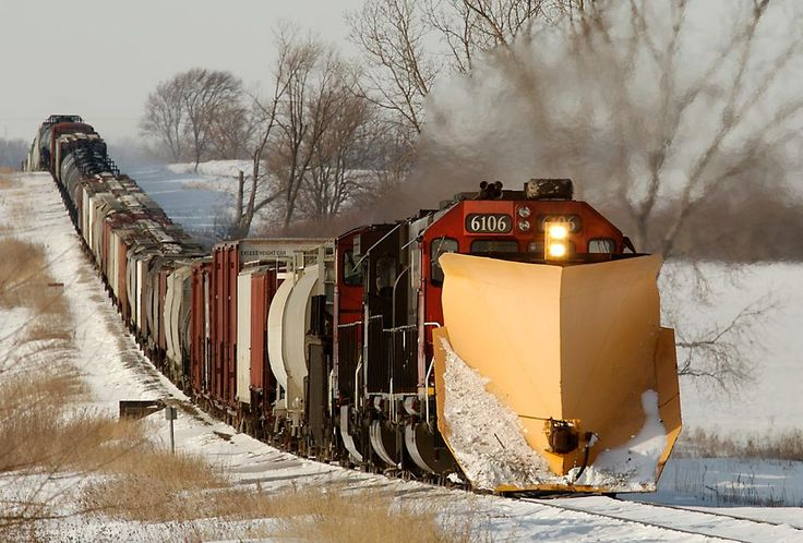 USA - Snow Clearing Freight Train, Illinois Central Railroad