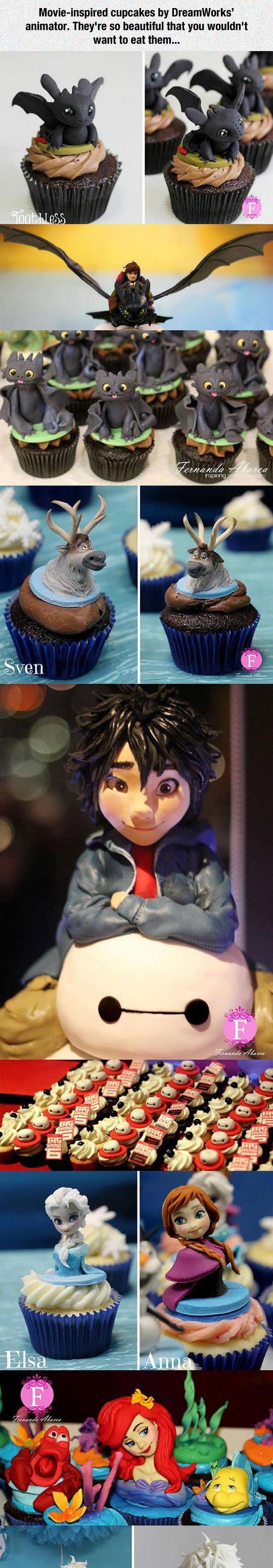 Movie-Inspired Cupcakes By DreamWorks Animator