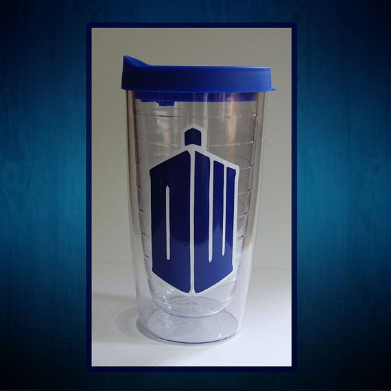 Dr. Who 16 ounce Insulated Tumbler with Lid  by DiecutsandDesigns