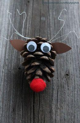 Renne pomme de pin. www.toutpetitrien.ch/bricos/ - fleurysylvie