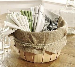 apple basket burlap liner