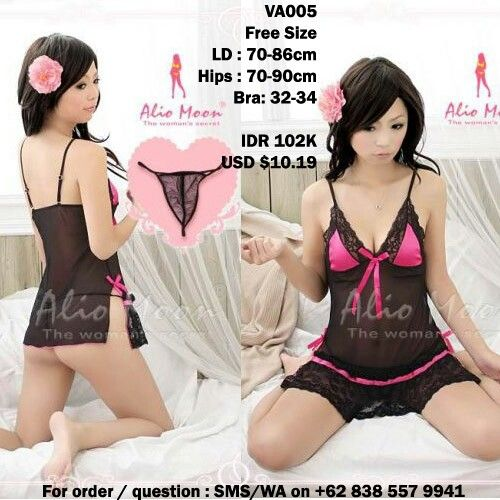 A lovely lingerie with g-string
