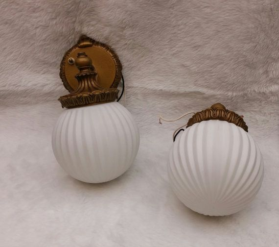 Pair of light craft wall sconces by Resurrectedbydesign on Etsy