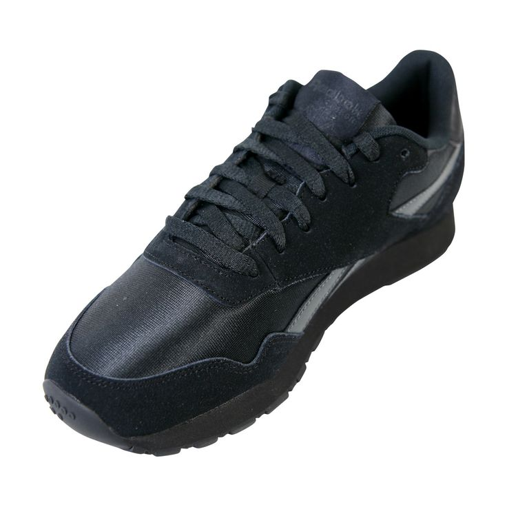 Reebok - Men's Classic Nylon Sneakers - Black http://www.95gallery.com/