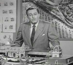 Disneyland Californië opende al op 17/07-1955, maar Walt Disney World in Florida opende in 1971. Walts' plannen (hier bij een maquette) werden voortgezet door broer Roy die hem vanaf het allereerste begin steunde..Walt was immers reeds overleden in 1966