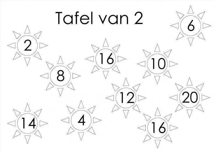 tafelspel 1 en 2