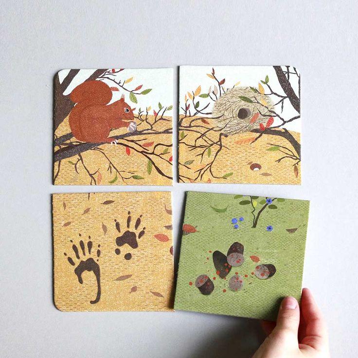 Animal Tracks montessori game by pipasik.cz
