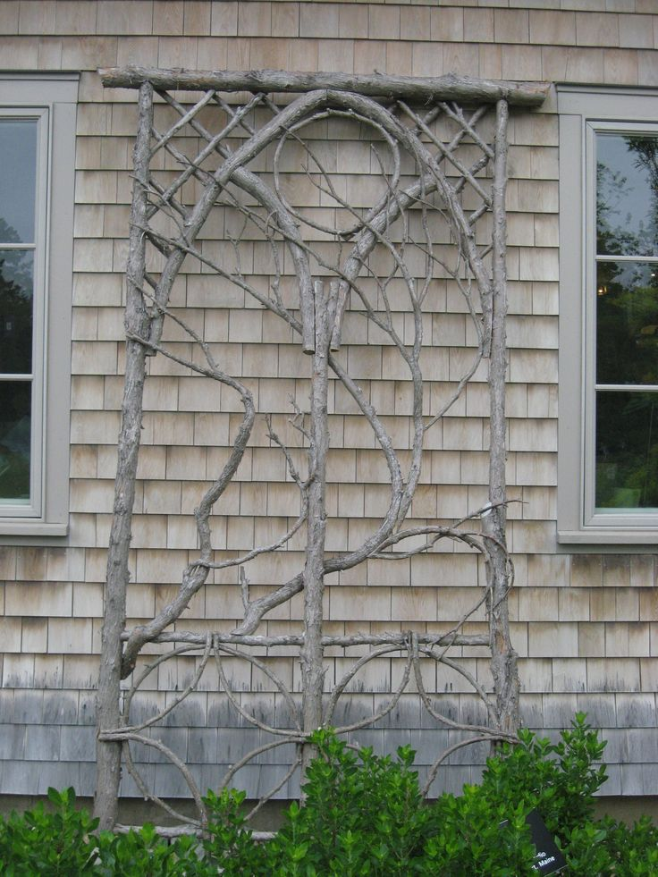 make a trellis from branches in your yard