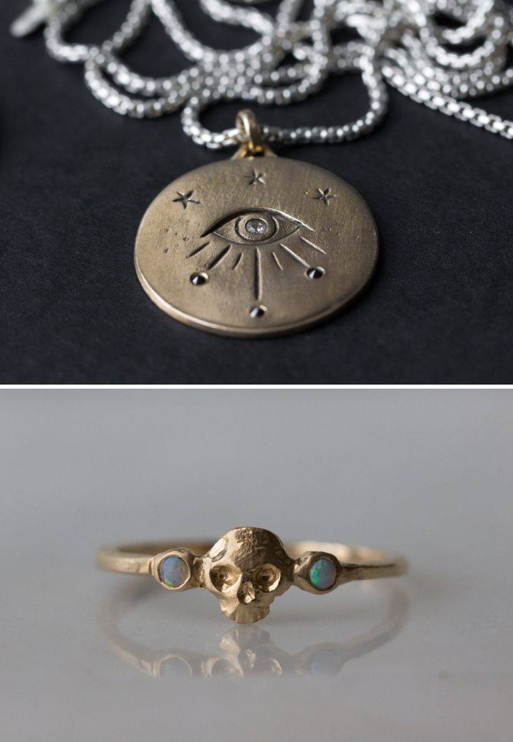 http://sosuperawesome.com/post/155180177087/jewelry-by-butch-and-miggs-on-etsy-see-more I LOVE the skull ring!