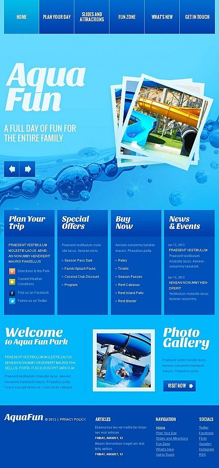 Facebook HTML CMS Theme #47044