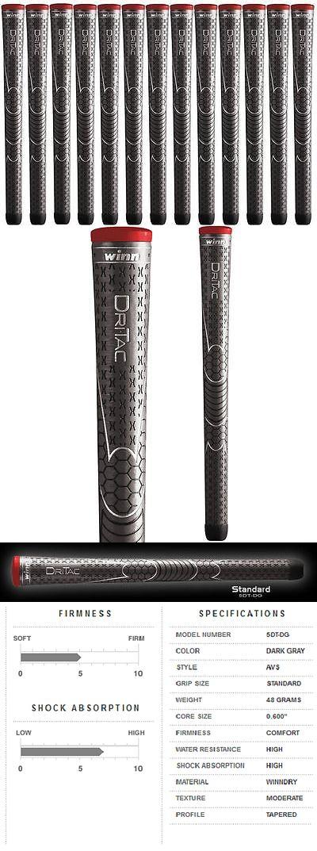 Golf Club Grips 47324: Authentic 13 Winn Dri Tac Standard Dark Grey Golf Grips 5Dt Dg -> BUY IT NOW ONLY: $69.99 on eBay!