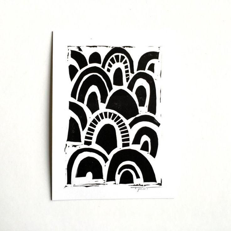 Abstract Scallop Pattern Art Print | Statement Goods