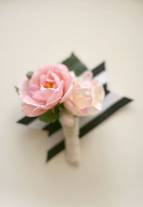 Leigh Boutonnierecreated with blush pink and by LoveSparklePretty