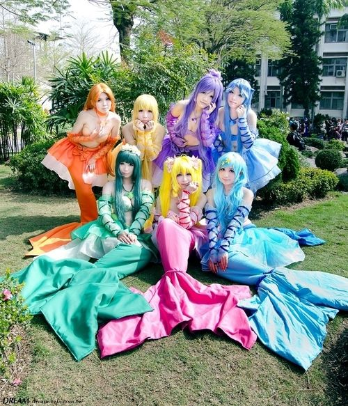 Mermaid melody pichi pichi pitch: My first anime XD. This cosplay is really spot on! Really hard to get the right amount of fluff and color and they did it really well