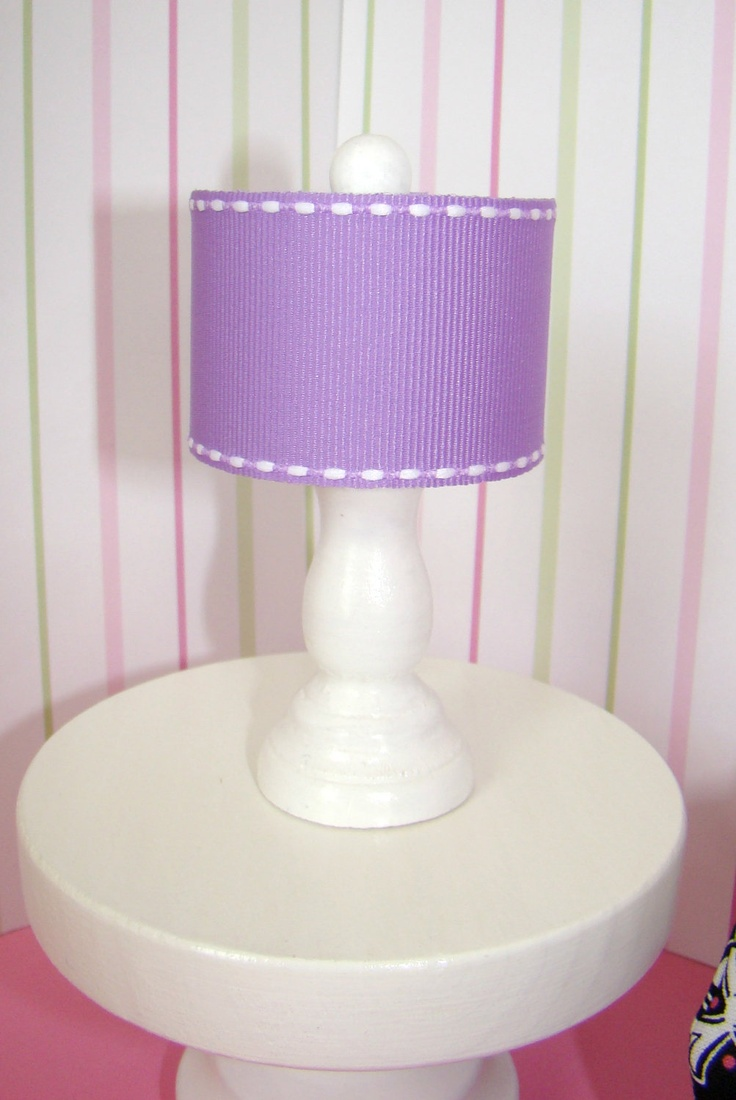 barbie furniture ideas. barbie furniture - white table lamp w drum lampshade in lavender fabric (from the baylee collection) ideas
