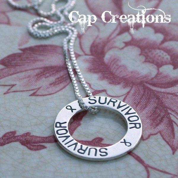 I M A Survivor Cap Creations Awareness Ribbon Necklace Survivor Awareness Awareness Ribbons