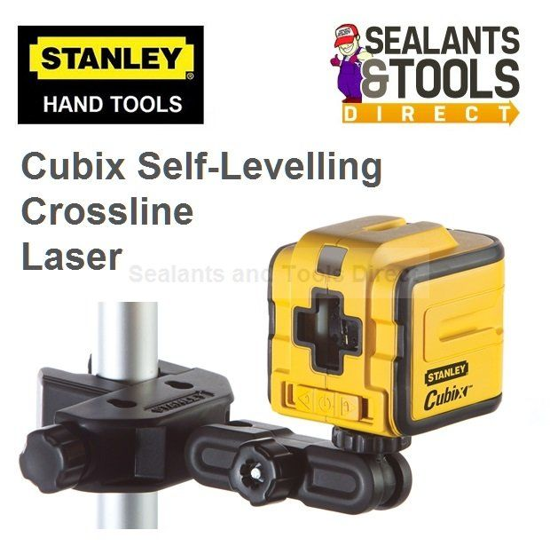 £ 50 Stanley Cubix Self Levelling Crossline Laser -  Laser is accurate to 0.5mm/m.