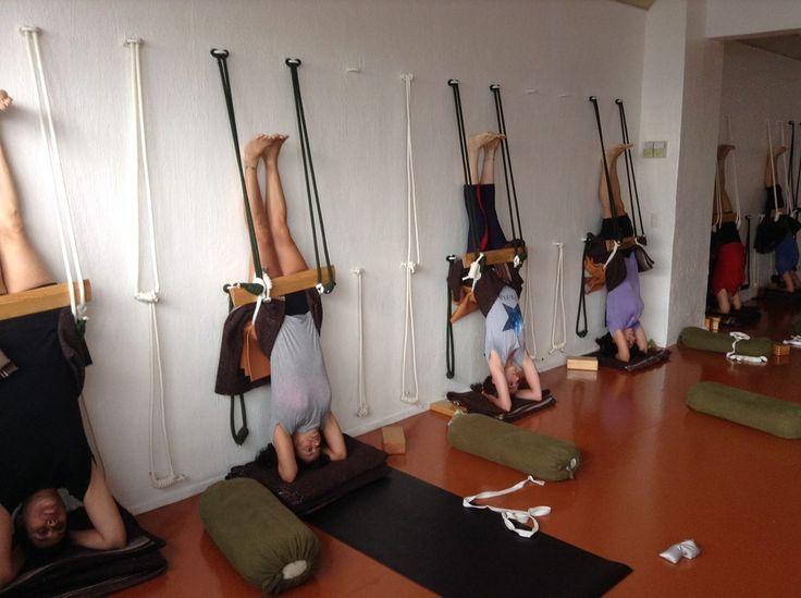 Rope sirsasana iyengar yoga rope wall inversions for How to make a rope wall