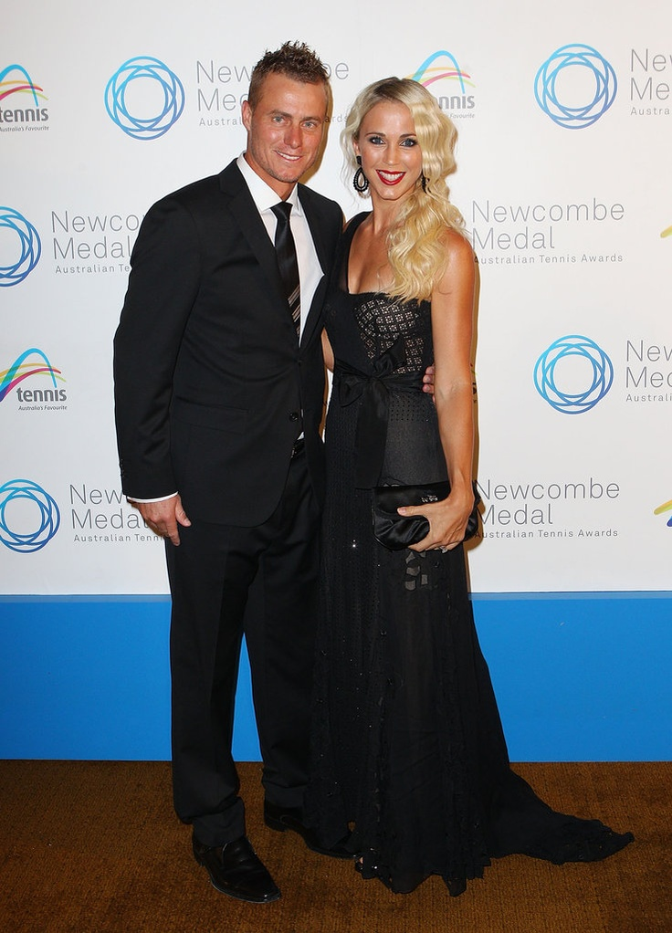 Lleyton () and Bec Hewitt. Lleyton is an Australian professional tennis player and former World No. 1.  FACEBOOK: 20K, TWITTER:12K, INSTA:N/A. (*source unknown)