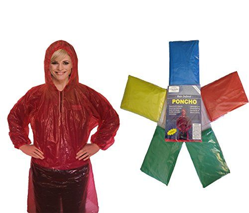 Rain Poncho for Adults (6 Pack) | Drawstring Hood and Elastic Sleeve Ends | 30% Thicker | Emergency Disposable Rain Poncho | Assorted Colors | 100% Waterproof - Have you ever been surprised by a sudden downpour? While you never know when mother nature will strike, you CAN be prepared. Rain Defend Emergency Ponchos by Living Better Outdoors are the ultimate emergency ponchos. These ponchos are individually packed so it's easy to keep them in your car, RV,...