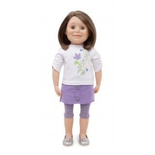 Maplelea Friend with shoulder-length brown hair, light skin, hazel eyes