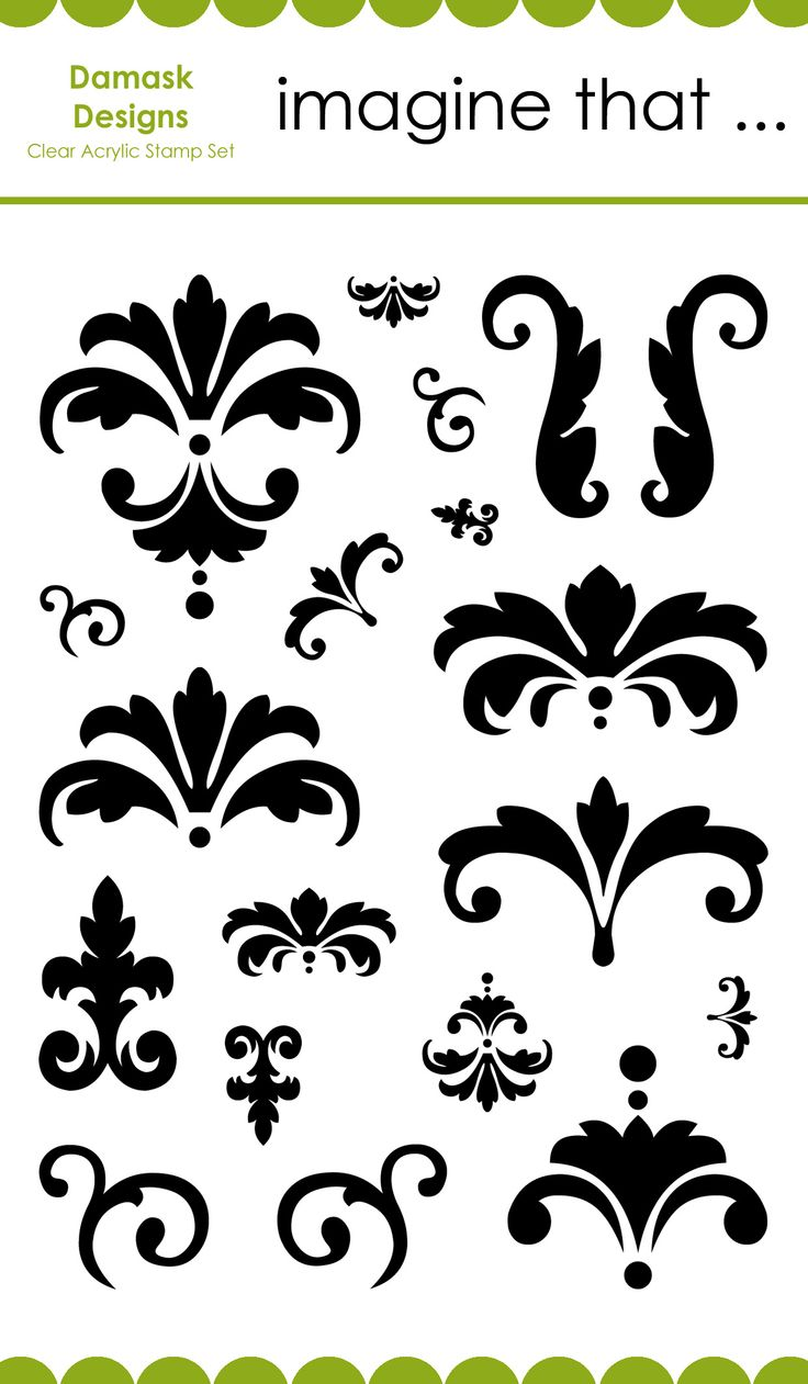 Imagine That  Damask Designs Clear Stamps cakepins.com