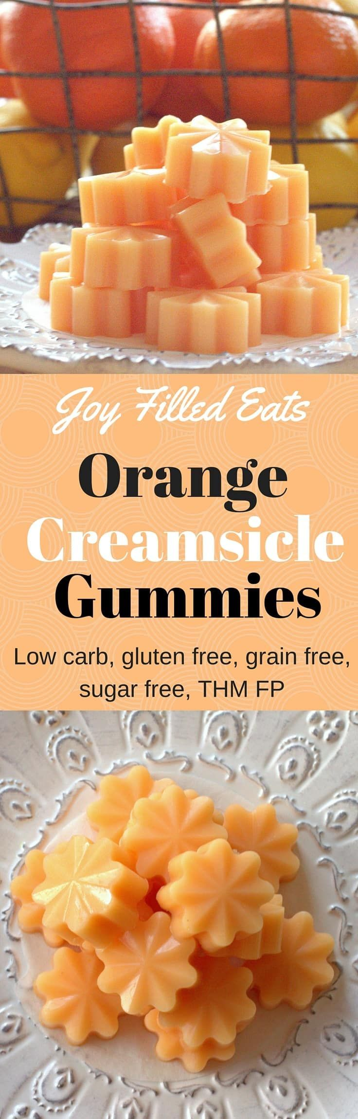 Orange Creamsicle Gummies remind me of being a kid on a summer day. These gummies capture those flavors and are low carb, keto, gluten free, sugar free, & a THM FP.