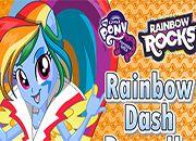 juegos equestria Rainbow Rock vestir Rainbow Dash